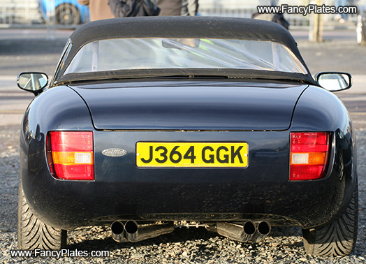 TVR Back-lit Number Plates