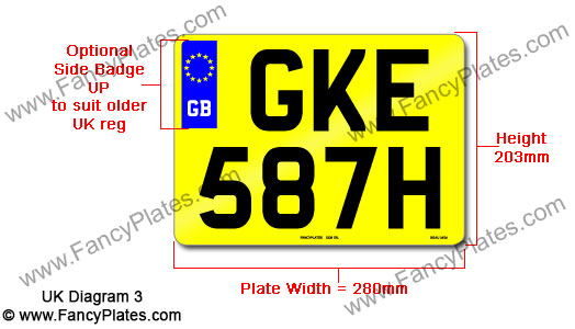 UK GB Number Plate
