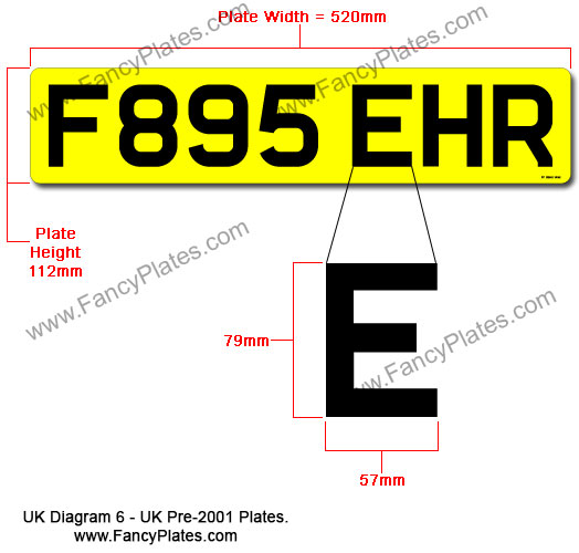 Uk Pre 2001 number plates